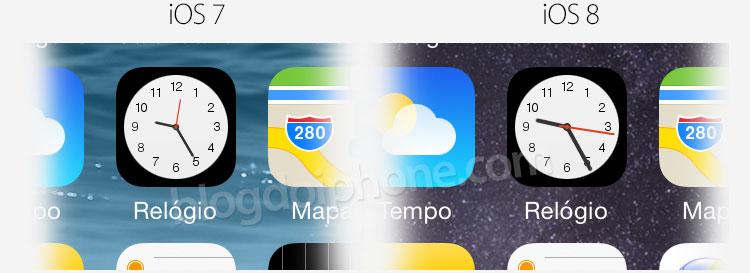 Relógio iOS 8
