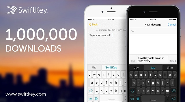 SwiftKey: 1 milhão de downloads