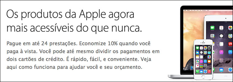 Parcelamento na Apple Store