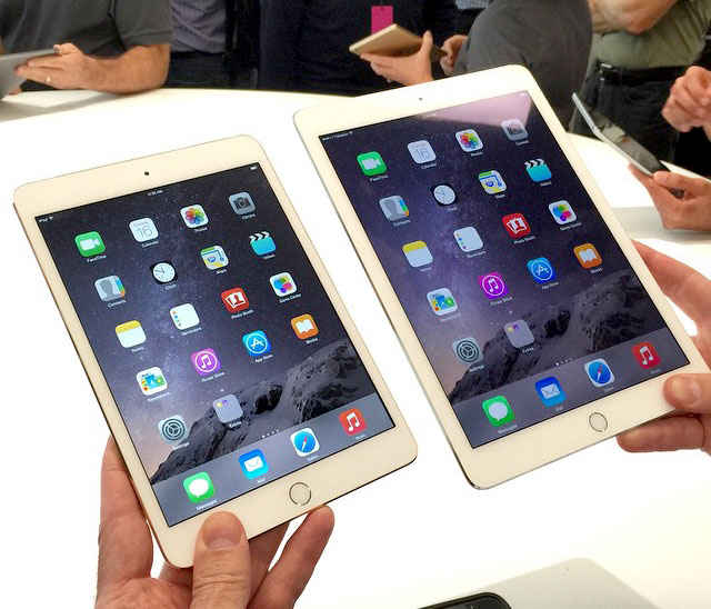 iPad Air 2 e mini 3