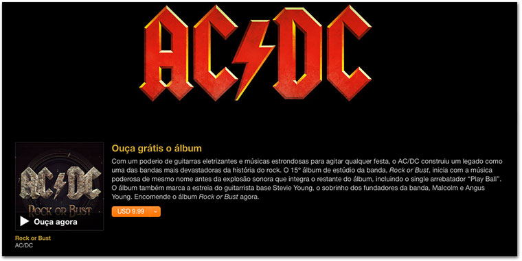 Photo of Ouça de graça o novo álbum do AC/DC na iTunes Store