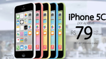 iPhone 5c nas Casas Bahia
