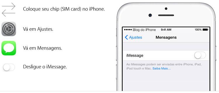 Desligando o iMessage
