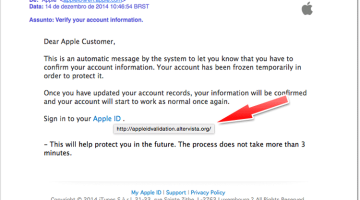Falso Email Apple