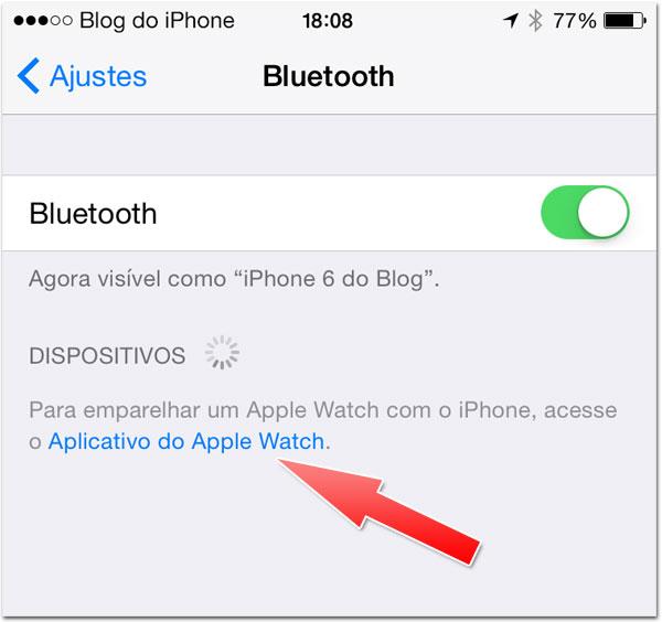 App para o Watch