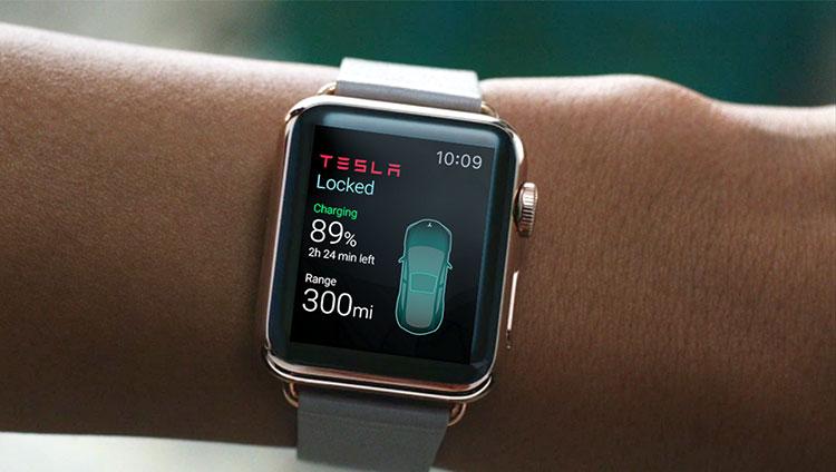 Tesla prepara um dos primeiros apps para o futuro Apple Watch