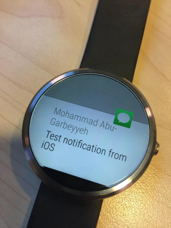 Notificações do iOS no Android Wear
