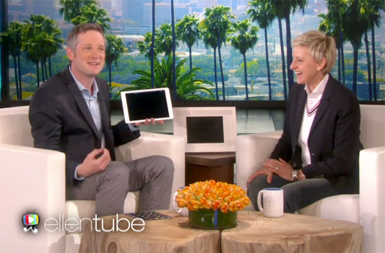 Photo of Ellen DeGeneres se surpreende com o mágico do iPad
