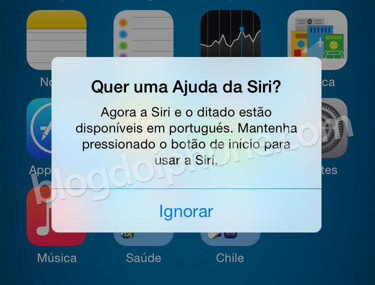 Siri em português
