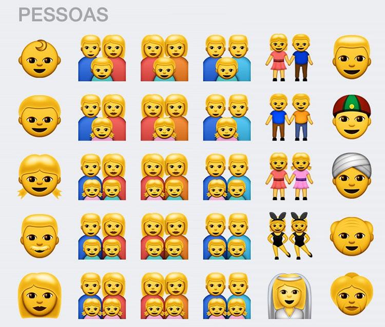 Emoji amarelos