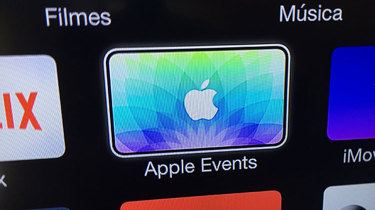 Eventos Apple na Apple TV
