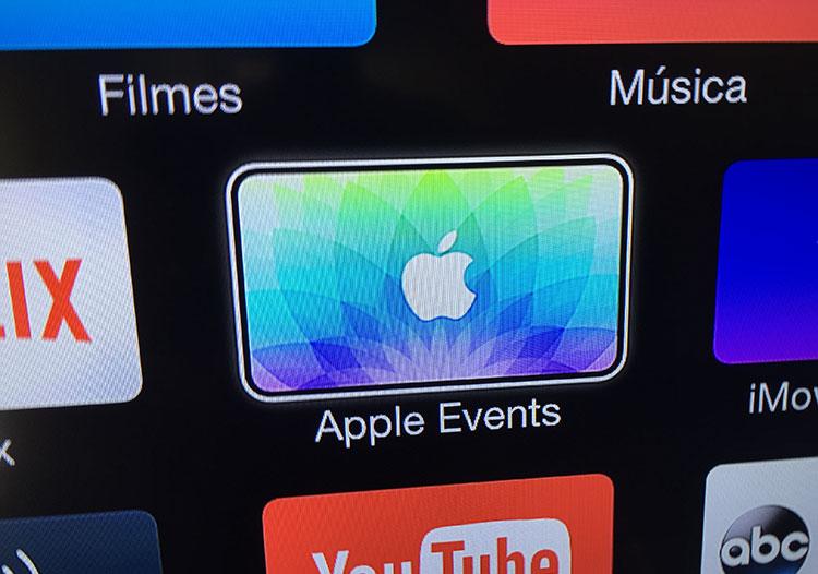 Eventos Apple na Apple TV