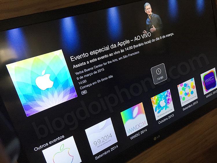 Apple TV eventos