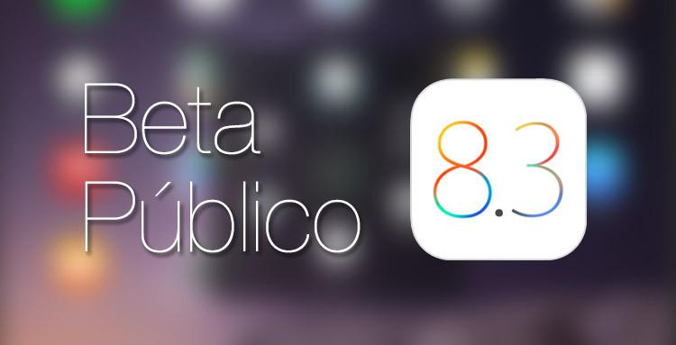 Beta público iOS 8.3
