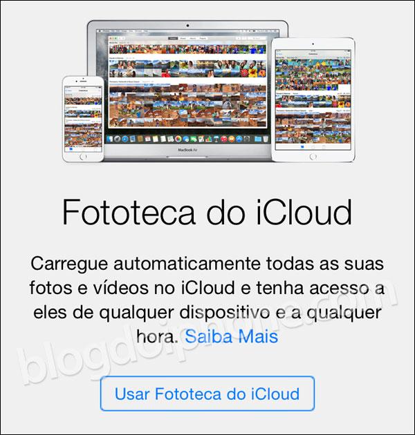 iOS 8.3 Fototeca do iCloud