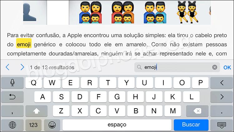 iOS 8.3 Busca no Safari