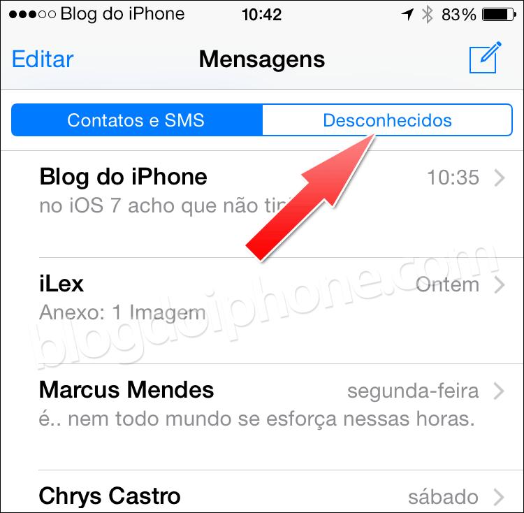 iOS 8.3 Mensagens