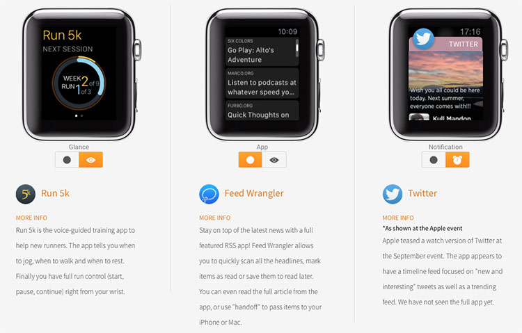 Apps no Apple Watch