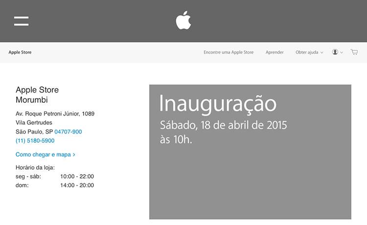 Apple Store Morumbi Inauguração