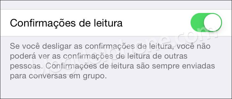 Confirmação WhatsApp