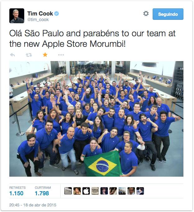 Tweet de Tim Cook