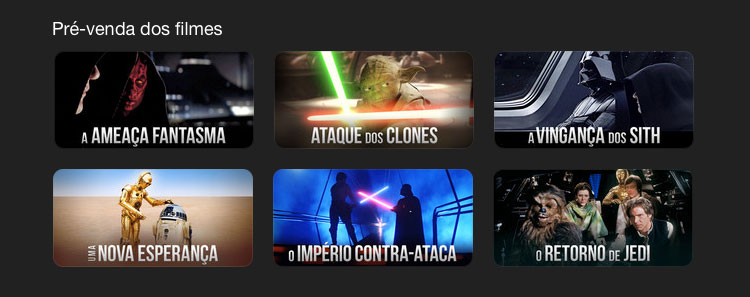 Star Wars no iTunes