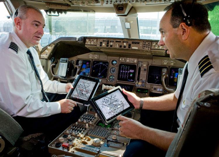 iPad no cockpit ajuda pilotos