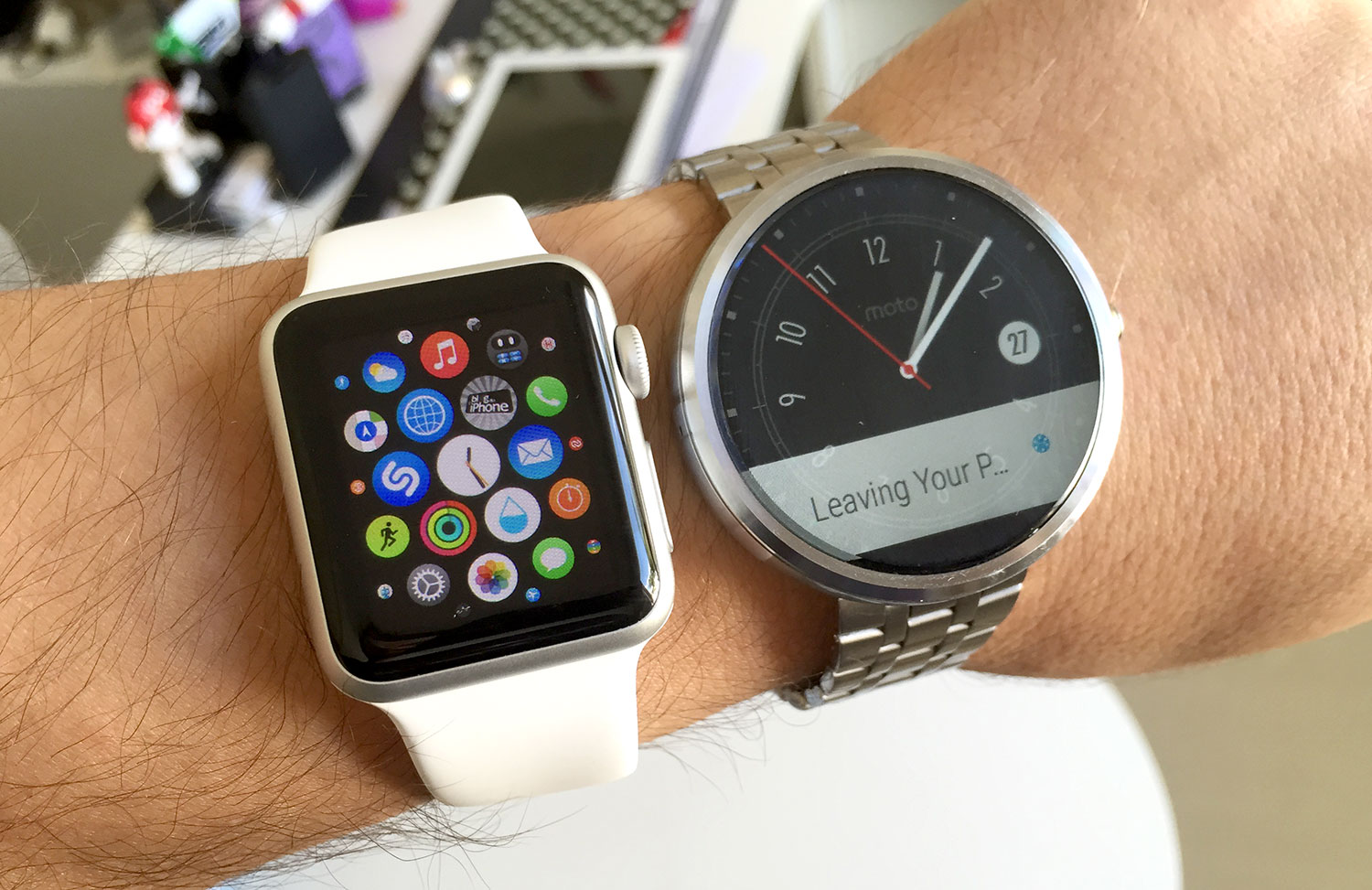 Apple Watch e Moto 360