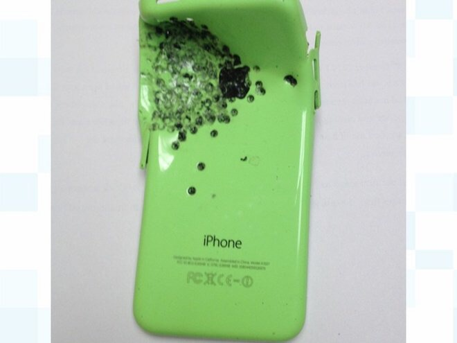 iPhone 5c baleado
