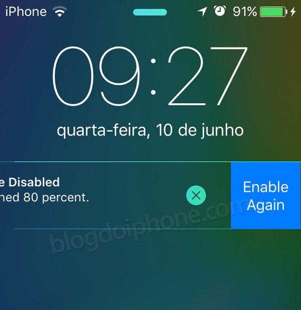 iOS 9 bateria