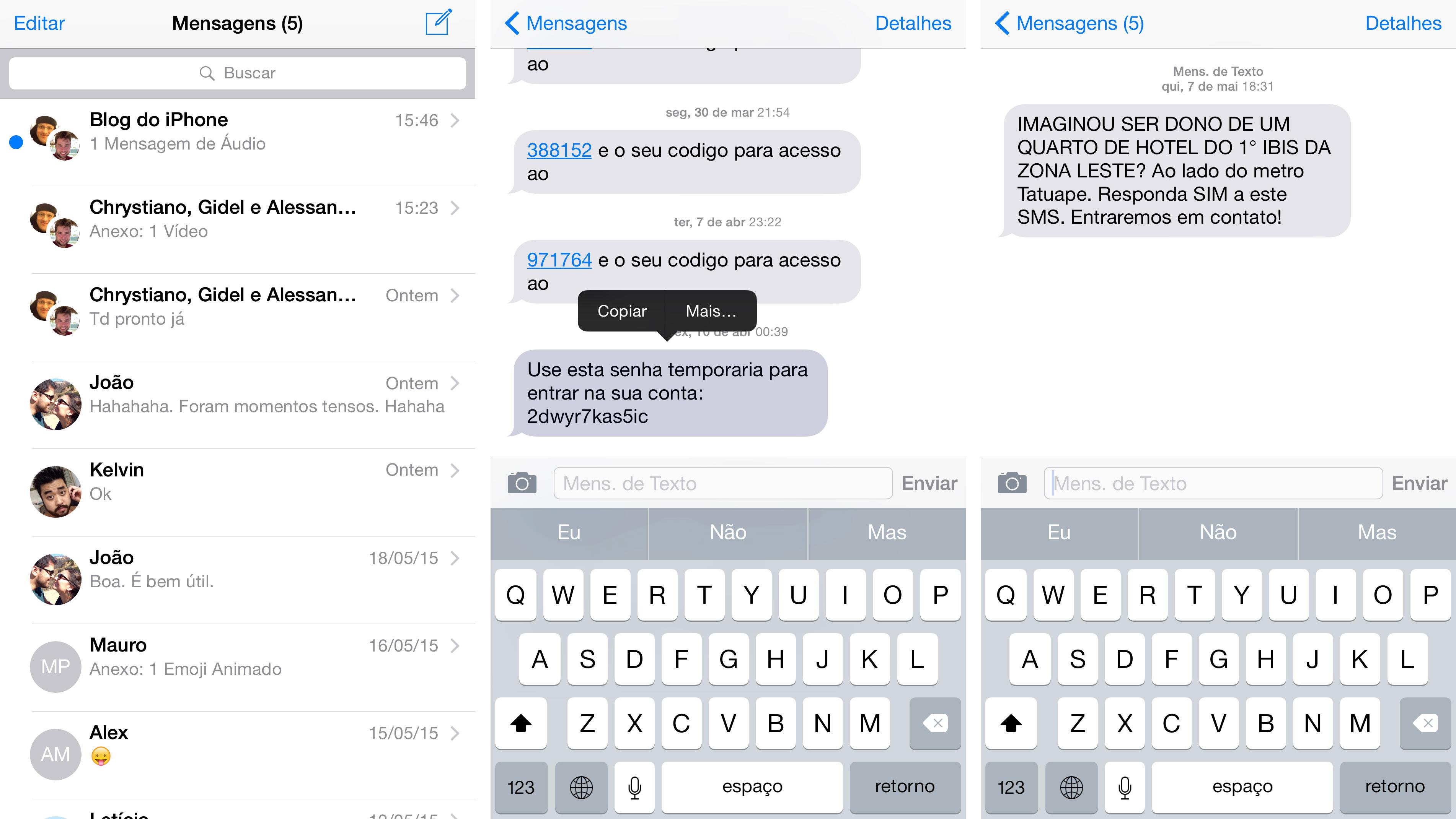 Wishlist iOS 9: Mensagens