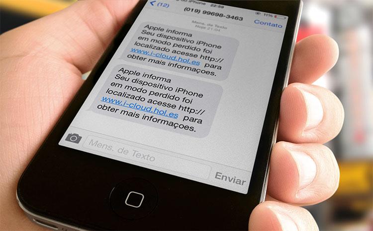 Golpe SMS iCloud