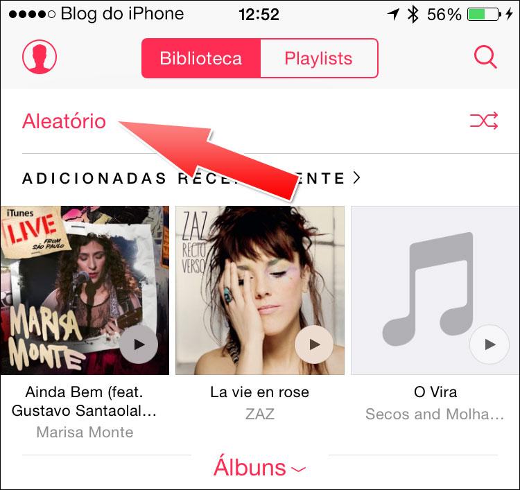 iOS 9 Músicas aleatórias