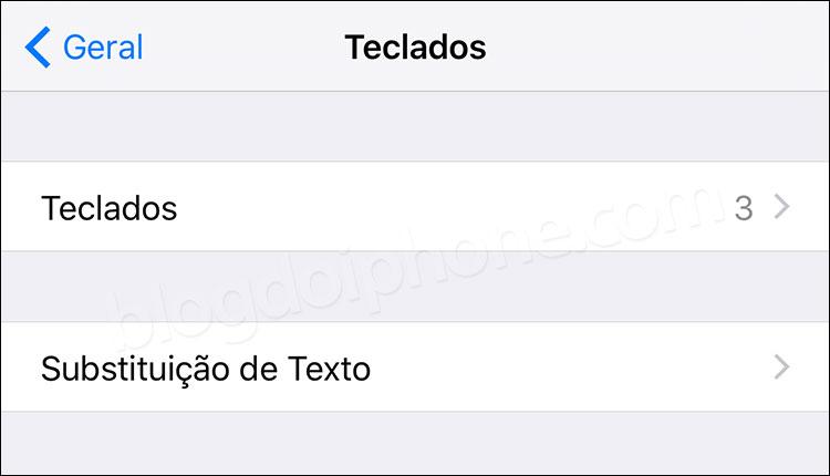 iOS 9 Substituição de Texto