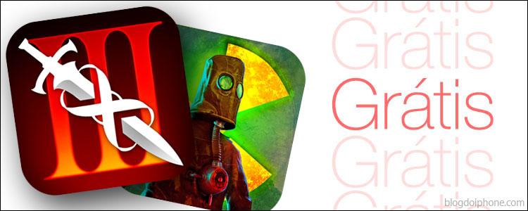 Infinity Blade III e Radiation Island Appsgratis2
