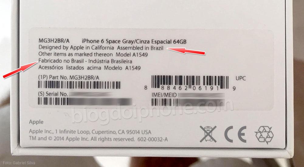 iPhone 6 Fabricado no Brasil