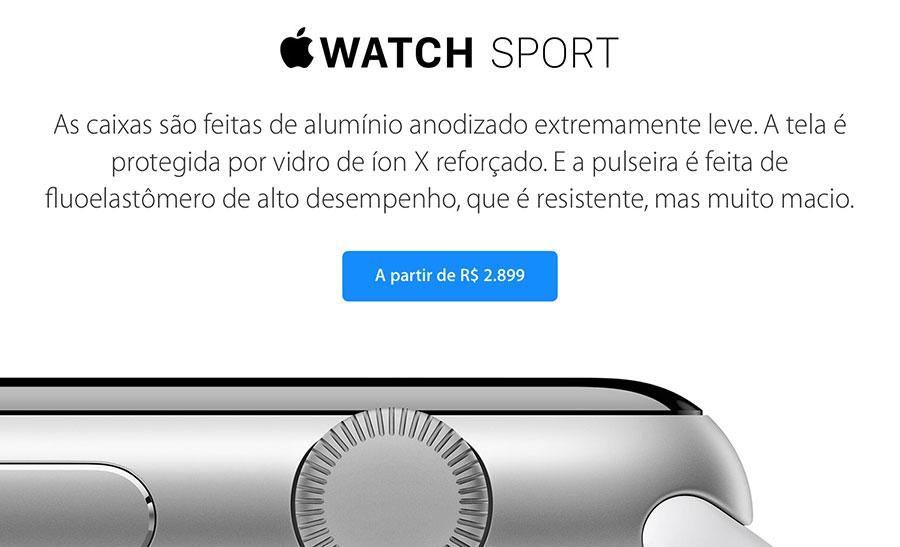 3e3f9e94fd4 Apple divulga os preços oficiais do Apple Watch no Brasil » Blog do iPhone