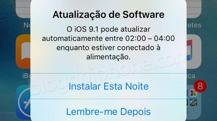Atualização iOS 9