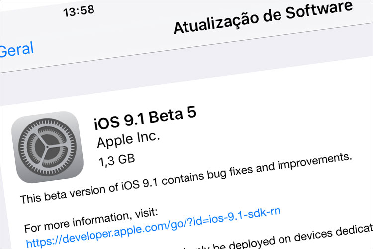 Photo of Apple libera quinto beta do futuro iOS 9.1