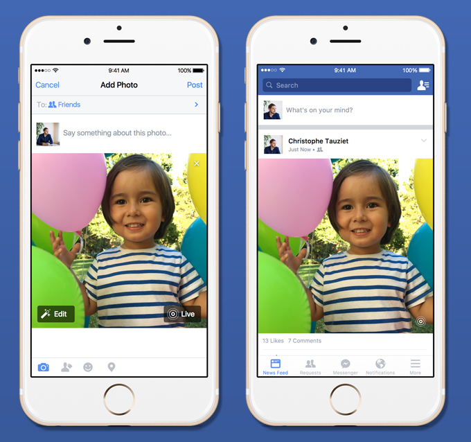 Photo of Facebook começa a ficar compatível com as Live Photos do iPhone 6s