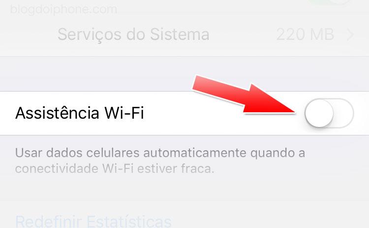 Consumo Dados - Assistência Wi-Fi