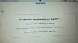 Problema ativação iTunes