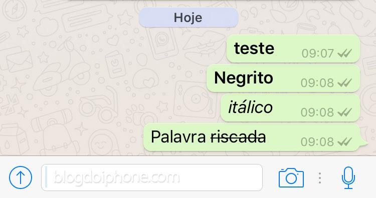 Veja como escrever em negrito e itálico no WhatsApp