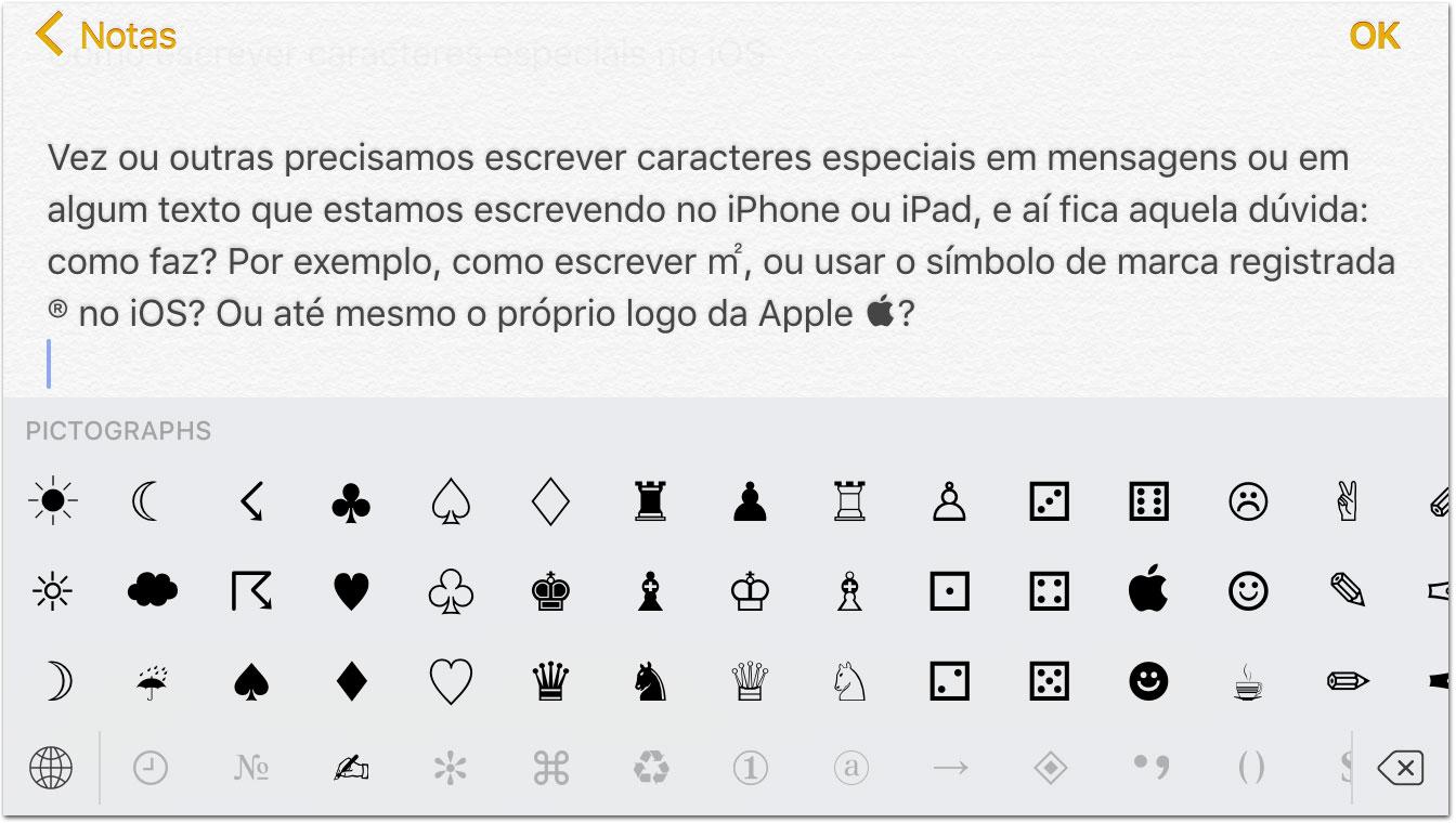 dica] Como escrever caracteres especiais no iOS » Blog do iPhone