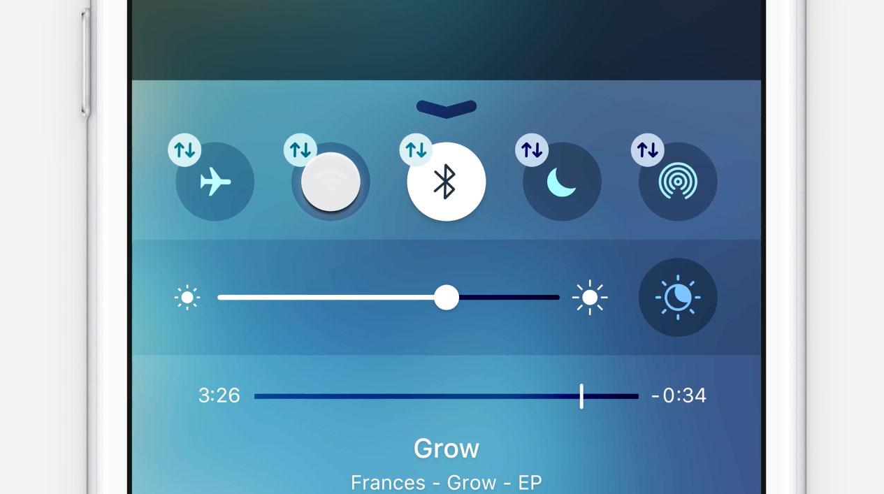 Conceito iOS 10 - Central de Controle