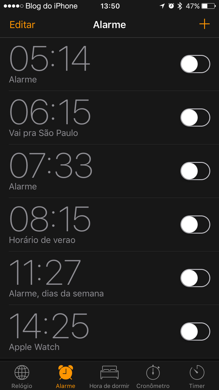 Dark Mode Relogio