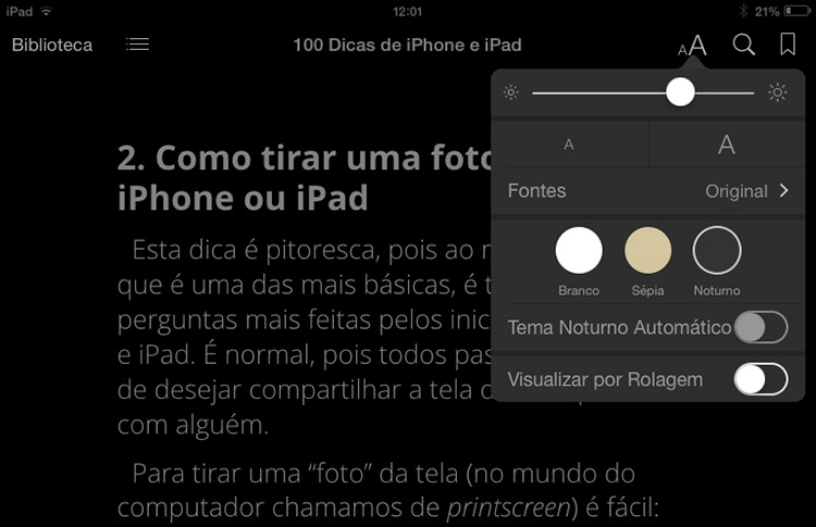 Dark Mode iBooks
