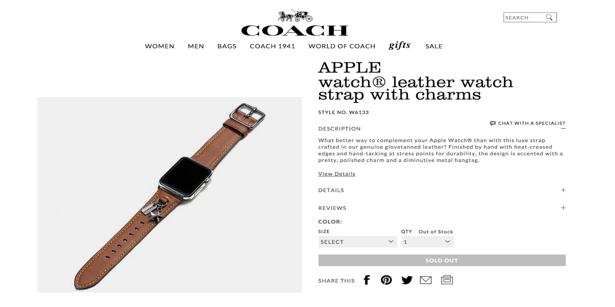 Coach Apple Watch