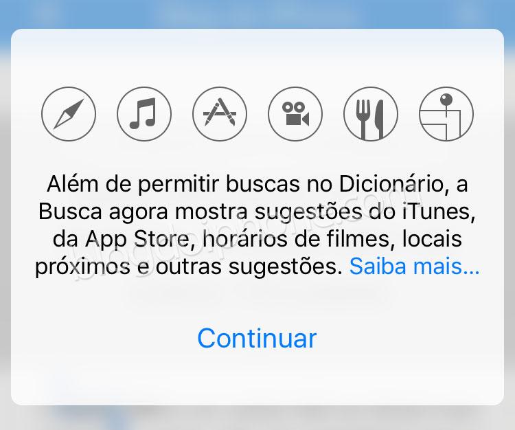 iOS 10 Buscas