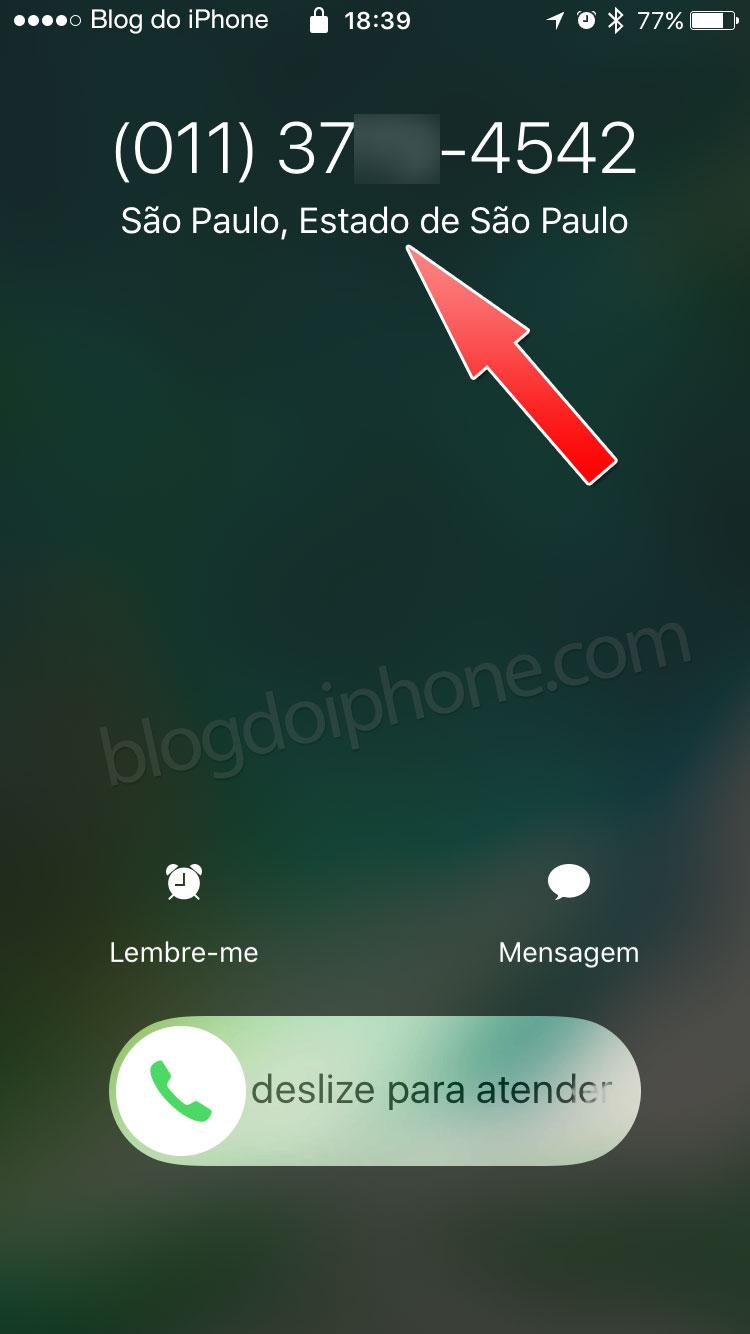 iOS 10 ligacoes